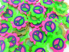 HOT 50PCS peace symbol Rubber Charms For Rainbow Loom Bands for bracelet