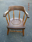 ANTIQUE  EARLY  AMERICAN  CHILD'S  WOOD / WOODEN  POTTY  CHAIR  *RE-PLUGGED*