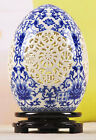 Fashion blue and white Hollow porcelain egg carved and painted nice pictures