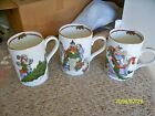 Fitz and Floyd set of 3 mugs (Deck the Halls) 1 set available