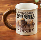 Sculpted Mug BIG BULL SESSION - BISON / BUFFALO by Grant Hacking