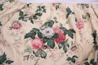 WAVERLY KING ROSEBERRY BED SKIRT YELLOW GREEN PINK CRANBERRY FLORAL