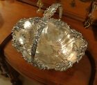 James Dixon & Sons Old Sheffield Handle Brides Basket Silver Copper 1835-1920