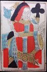 Authentic 1740 Poker Playing Card Rare Woodblock Color Stenciled Carte Historic