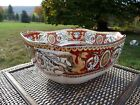 MINTON & Co.1862 RED FLORENTINE Griffin & Urns Pattern EARTHENWARE Square BOWL