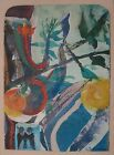 Vtg Art Watercolor Painting Listed Syd Solomon Nature Role II Gouache 01377