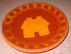 Ned Foltz Redware Pottery Plate 7 5/8 W Shallow Bowl House Decorated 1986
