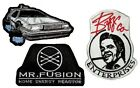 Set Back to the Future Embroidered Patches Delorean Part 2 Mr Fusion Biffco Ent.