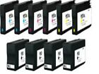 10 PK HP 950xl 951xl Ink Cartridges for OfficeJet Pro 8610 8620 8630  Printers