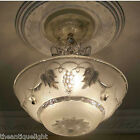 474 Vintage 40s Ceiling Light Lamp Fixture Re-Wired white