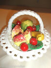 Vintage Lanzarin  Handcrafted  Fruit Basket  made in Italy with Handmade  Fruit