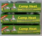 6 CANS CAMP HEAT, STERNO TYPE EMERGENCY STOVE FUEL 4-6 HR BURN, RECLOSEABLE
