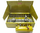RARE 1970s Vintage YELLOW/GOLD Coleman 413G BIG Two(2)Burner Camp Cook Stove
