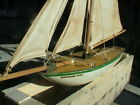 Vintage Pond Sail Boat Wood and Cloth Sails,Model Ship,(STARYACHT) NORTHERN STAR