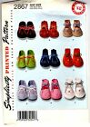 SEWING PATTERN: VINTAGE-STYLE FELT BABY BOOTIES, 1948, 3 styles, embroidery 2867