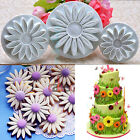 3x Sunflower Fondant Cake Plunger Cookie Cutter Mold Paste Decoration Sugarcraft