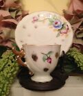 Antique mini floral teacup and saucer Made in Occupied Japan