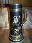 Antique Lg Tankard Handpainted by Artist Medieval Court Jester Egyptian Art Ware