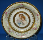 ANTIQUE VOLKSTEDT PORCELAIN BOWL MAIDENS PORTRAIT WOMEN GERMAN SCHWARZBURG 1904