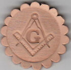 Masonic Symbol Stamp. Delrin laser engraved clicker stamp
