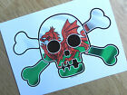 Large Skull & Crossbones WELSH WALES CYMRU FLAG Bike Car Sticker Camper Caravan