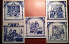 Vintage Delft Blue And White Tiles