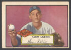 1952 TOPPS #342 CLEM LABINE HIGH NUMBER ROOKIE CARD BROOKLYN DODGERS