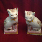 PAIR OF STAFFORDSHIRE WARE KENT CERAMIC CATS KITTENS ENGLAND