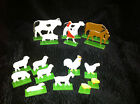 VINTAGE GERMAN WOOD COMPOSITE FARM TOYS, 16 PCS, MARKED GDR, INTERESTING SET!