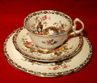 ROYAL STAFFORD *GEISHA* TRIO: TEA CUP, SAUCER & SALAD PLATE  GOLD TRIM