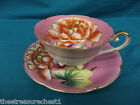 Hand Painted Trimont China Tea Cup and Saucer Made in Occupied Japan