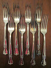 LOT of 8 DINNER FORKS! Vintage OLD COMPANY PLATE SIGNATURE pattern: EXCELLENT!
