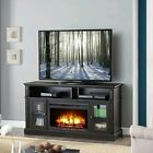 New Espresso Brown 4600 BTU Fireplace Media Stand for TVs up to 70