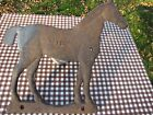 VINTAGE OLD ANTIQUE CAST IRON HORSE EQUESTRIAN WINDMILL WEIGHT ART DECO