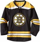 $359 Authentic Mens Boston Bruins Reebok EDGE Home Black Jersey Blank Size 52
