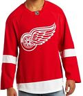 $359 Detroit Red Wings Authentic Reebok Edge Jersey Tie Down Sewn Fight Strap