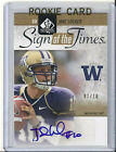 UD SP Authentic Sign of the Times RC AUTO 1 10 Jake Locker Huskies titans