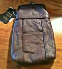 Eclipse Brown Leather Lamb Skin Snap 120s Cigarette Case