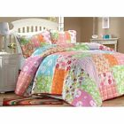 COZY SOFT PINK PURPLE GREEN TEAL BLUE PLAID TEEN GIRLS QUILT SET TWIN SIZE NEW!
