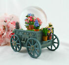 Purple Rain Forest musical box snowglobe oil painting vision - flower trolley