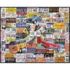 NEW White Mountain Puzzles License Plates - 1000 Piece Jigsaw Puzzle