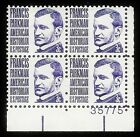 1281 TAGGED PROMINENT AMERICAN FRANCIS PARKMAN MNH LOWER RIGHT PLATE BLOCK 4