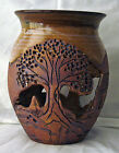 Vase Pottery Hand Thrown Earth tones with Cutouts- Signed