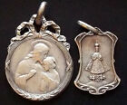 FRANCE ANTIQUE SILVER LOTX2 JESUS W/CHILD & INFANT JESUS OF PRAGUE,VIRGIN MARY