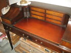 Custom Quality~LEATHER TOP Fruitwood Mahogany WOOD Carlton House Writing Sm Desk