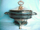 ONEIDA Silverplate Covered Chafing Dish Footed Casserole Serving Glass Insert bo