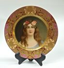 1850-1900, Austria,'Rose' Portrait, Royal Vienna, Plate, signed, Wagner