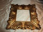 VINTAGE ANTIQUE 13X13 ORNATE GESSO GILT PICTURE FRAME WOOD HOLDS 6 x 6 PICTURE