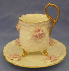 Cup & Saucer Set Pink Roses White & Gold Trim Saucer 5