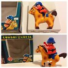 Cowboy AND THE HORSE VINTAGE WIND-UP TOY BY JIMSON